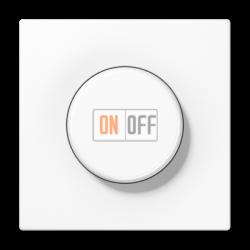 Диммер поворотно-нажимной 1000Вт для ламп накаливания, цвет Белый, LS990, Jung