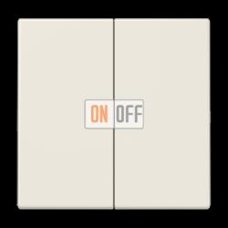 Выключатель 2-клавишный проходной (с двух мест), цвет Бежевый, LS990, Jung