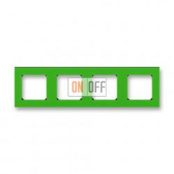 Рамка 4-ая (четверная), цвет Зеленый/Дымчатый черный, Levit, ABB