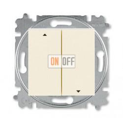 Выключатель для жалюзи (рольставней) кнопочный, цвет Слоновая кость/Белый, Levit, ABB