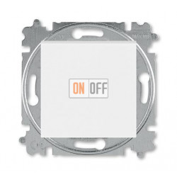 Выключатель 1-клавишный ,проходной (с двух мест), цвет Белый/Ледяной, Levit, ABB