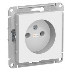 Розетка 1-ая электрическая без заземления, Белый, серия Atlas Design, Schneider Electric