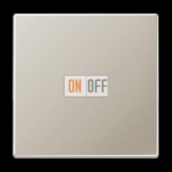Выключатель 1-клавишный  , цвет Edelstahl (сталь), LS990, Jung