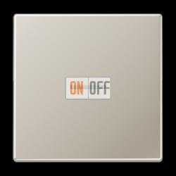 Выключатель 1-клавишный ,проходной с подсветкой (с двух мест), цвет Edelstahl (сталь), LS990, Jung