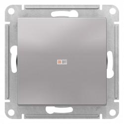 Выключатель 1-клавишный, перекрестный (с трех мест), Алюминий, серия Atlas Design, Schneider Electric