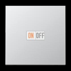 Выключатель 1-клавишный; кнопочный , цвет Алюминий (металл), LS990, Jung