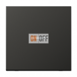 Выключатель 1-клавишный ,проходной с подсветкой (с двух мест), цвет Алюминий (металл), LS990, Jung