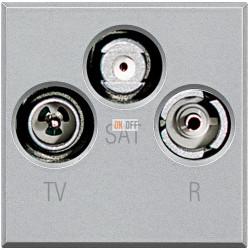 Розетка телевизионная оконечная ТV-FМ-SАТ, цвет Алюминий, Axolute, Bticino