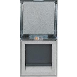 Установочная розетка компьютерная 1-ая кат.6, RJ-45 (интернет) 1 мод, цвет Алюминий, Axolute, Bticino