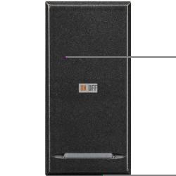 Установочный выключатель 1-клавишный 1 мод (винтовые клеммы), цвет Антрацит, Axolute, Bticino