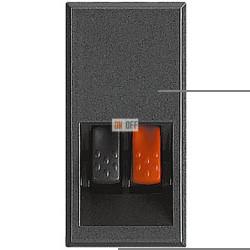 Установочная розетка аудио для колонок 1-ая 1 мод, цвет Антрацит, Axolute, Bticino