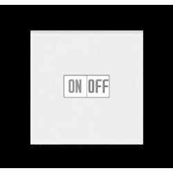 Выключатель 1-клавишный, цвет Белый/Ледяной, Levit, ABB