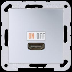 Розетка HDMI 1-ая (разъем), цветАлюминий,A500,Jung