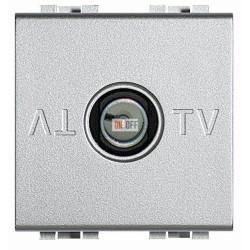 Розетка телевизионная оконечная ТV, цвет Алюминий, LivingLight, Bticino