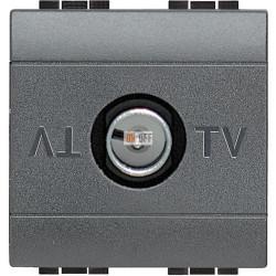 Розетка телевизионная оконечная ТV, цвет Антрацит, LivingLight, Bticino