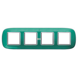 Рамка 4-ая (четверная) эллипс, цвет Мятная карамель, Axolute, Bticino
