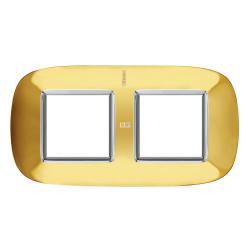Рамка 2-ая (двойная) эллипс, цвет Золото, Axolute, Bticino