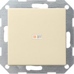Выключатель 1-клавишный; кнопочный, с трех мест, цвет Бежевый, Gira