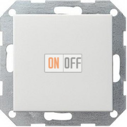 Выключатель 1-клавишный; кнопочный, с трех мест, цвет Белый, Gira