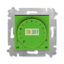 Терморегулятор для теплого пола, цвет Зеленый/Дымчатый черный, Levit, ABB