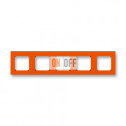 Рамка 5-ая (пятерная), цвет Оранжевый/Дымчатый черный, Levit, ABB