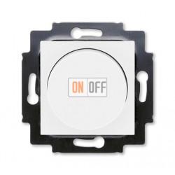 Диммер поворотно-нажимной , 600Вт для ламп накаливания, цвет Белый/Ледяной, Levit, ABB
