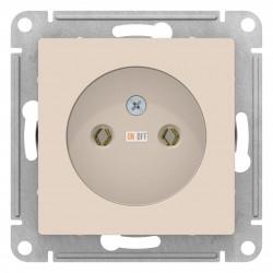 Розетка 1-ая электрическая без заземления, Бежевый, серия Atlas Design, Schneider Electric