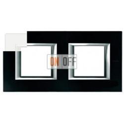 Рамка 2-ая (двойная) прямоугольная, цвет White, Axolute, Bticino