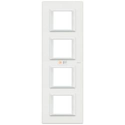 Рамка 4-ая (четверная) прямоугольная вертикальная, цвет White, Axolute, Bticino