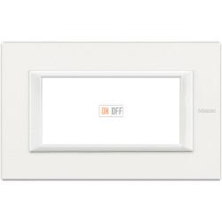Рамка итальянский стандарт 4 мод прямоугольная, цвет White, Axolute, Bticino