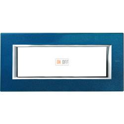 Рамка итальянский стандарт 6 мод прямоугольная, цвет Сапфир, Axolute, Bticino