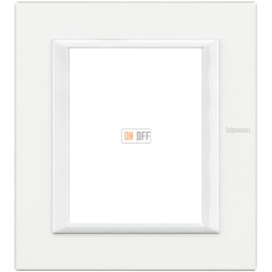 Рамка итальянский стандарт 3+3 мод прямоугольная, цвет White, Axolute, Bticino