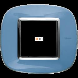 Рамка 1-ая (одинарная) эллипс, цвет Голубая карамель, Axolute, Bticino