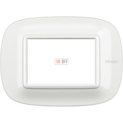 Рамка итальянский стандарт 3 мод эллипс, цвет White, Axolute, Bticino