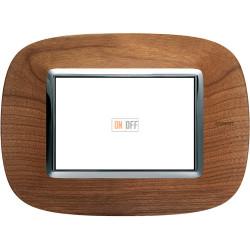 Рамка итальянский стандарт 3 мод эллипс, цвет Дерево Черешня, Axolute, Bticino