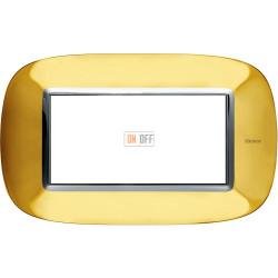Рамка итальянский стандарт 4 мод эллипс, цвет Золото, Axolute, Bticino
