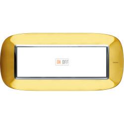 Рамка итальянский стандарт 6 мод эллипс, цвет Золото, Axolute, Bticino