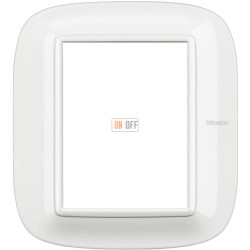 Рамка итальянский стандарт 3+3 мод эллипс, цвет White, Axolute, Bticino