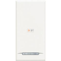 Установочный выключатель 1-клавишный, перекрестный (с трех мест) 1 мод, цвет Белый, Axolute, Bticino
