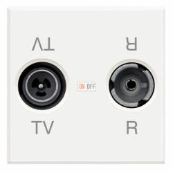 Розетка телевизионная оконечная ТV-FМ, цвет Белый, Axolute, Bticino