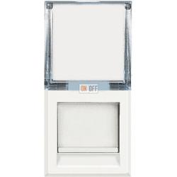 Установочная розетка компьютерная 1-ая кат.6, RJ-45 (интернет) 1 мод, цвет Белый, Axolute, Bticino
