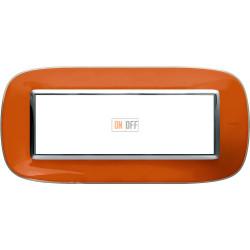 Рамка итальянский стандарт 6 мод эллипс, цвет Апельсиновая карамель, Axolute, Bticino