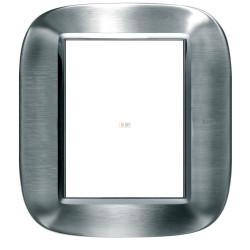 BT Axolute Фактурная сталь Рамка 3+3 мод прямоугольная