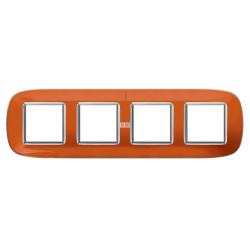 Рамка 4-ая (четверная) эллипс, цвет Апельсиновая карамель, Axolute, Bticino