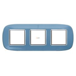 Рамка 3-ая (тройная) эллипс, цвет Голубая карамель, Axolute, Bticino