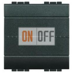 Выключатель 1-клавишный , с подсветкой Axial, цвет Антрацит, LivingLight, Bticino