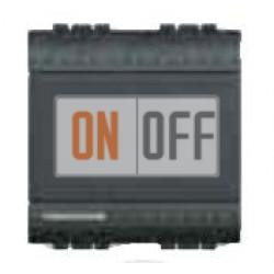 Выключатель 1-клавишный , с подсветкой (винтовые клеммы), цвет Антрацит, LivingLight, Bticino