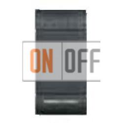 Выключатель 2-клавишный , с подсветкой (винтовые клеммы), цвет Антрацит, LivingLight, Bticino
