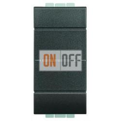 Выключатель 2-клавишный , с подсветкой Axial, цвет Антрацит, LivingLight, Bticino