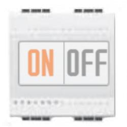 Выключатель 1-клавишный , с подсветкой (винтовые клеммы), цвет Белый, LivingLight, Bticino
